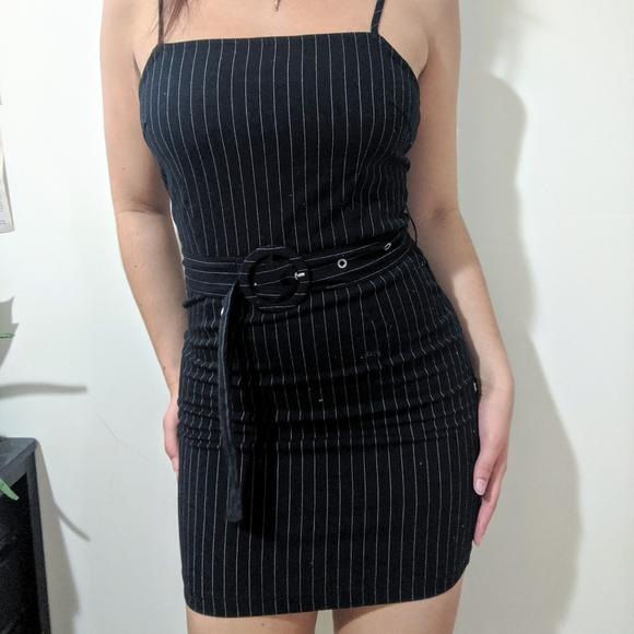 UO pinstripe mini dress